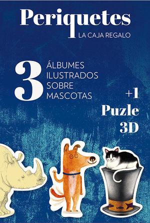 PERIQUETES. 3 ALBUMES ILUSTRADOS SOBRE MASCOTAS + 1 PUZLE 3D