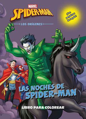SPIDER-MAN. LOS ORÍGENES. LAS NOCHES DE SPIDER-MAN. LIBRO PARA COLOREAR