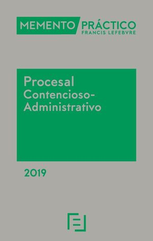 MEMENTO PROCESAL CONTENCIOSO-ADMINISTRATIVO 2019