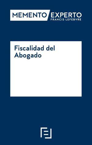 MEMENTO EXPERTO FISCALIDAD DEL ABOGADO