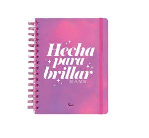AGENDA ESCOLAR 2019-2020 HECHA PARA BRILLAR
