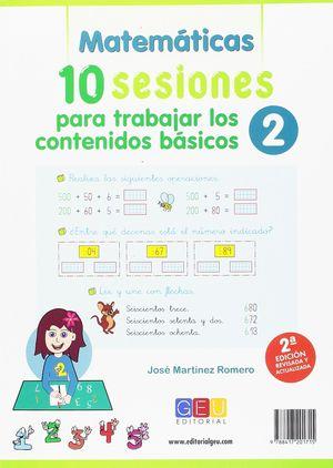 10 SESIONES PARA TRABAJAR LOS CONTENIDO BÁSICOS 2