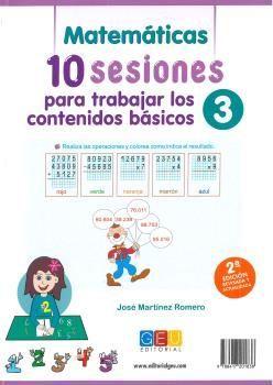 10 SESIONES PARA TRABAJAR LOS CONTENIDOS BÁSICOS. CUADERNO 3