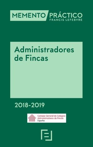 MEMENTO ADMINISTRADORES DE FINCAS 2018-2019