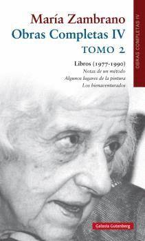 OBRAS COMPLETAS IV MARÍA ZAMBRANO T.2
