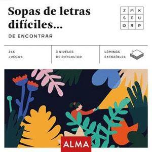 SOPAS DE LETRAS DIFÍCILES DE ENCONTRAR
