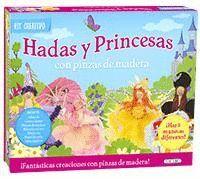 HADAS Y PRINCESAS CON PINZAS DE MADERA ( KIT CREATIVO )