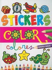 STICKERS COLOR. COLORES. ESPAÑOL INGLES