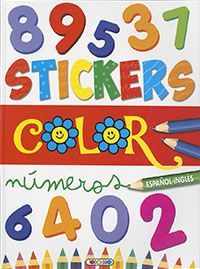 STICKERS COLOR. NÚMEROS. ESPAÑOL INGLES