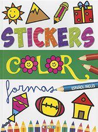 STICKERS COLOR. FORMAS. ESPAÑOL INGLES