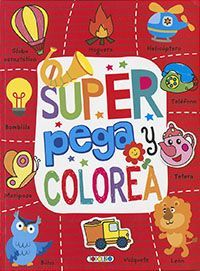 SUPER PEGA Y COLOREA (ROJO)