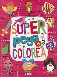 SUPER PEGA Y COLOREA (ROSA)