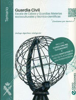 GUARDIA CIVIL. TEMARIO. ESCALA DE CABOS Y GUARDIAS. MATERIAS SOCIOCULTURALES Y TECNICO-CIENTIFICAS