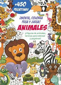 ANIMALES. MONTA, COLOREA, PEGA Y JUEGA