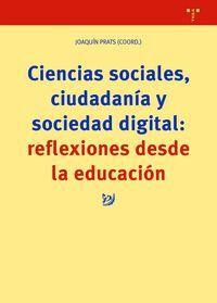CIENCIAS SOCIALES, CIUDADANÍA Y SOCIEDAD DIGITAL: REFLEXIONES DESDE LA EDUCACIÓN