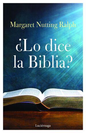 LO DICE LA BIBLIA?