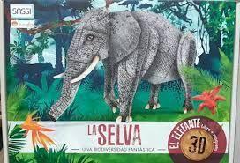 LA SELVA - EL ELEFANTE 3D - CAJA LIBRO +MAQUETA 3D