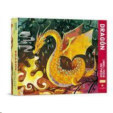 DRAGON. LIBRO Y PUZLE 100 PIEZAS (CAJA)