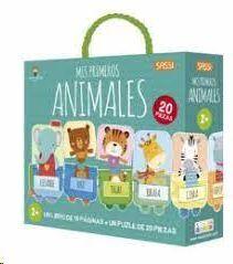MIS PRIMEROS ANIMALES (LIBRO + PUZLE 20 PIEZAS) (CAJA)