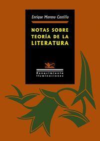 NOTAS SOBRE TEORIA DE LA LITERATURA