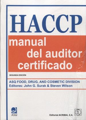 HACCP MANUAL DEL AUDITOR CERTIFICADO