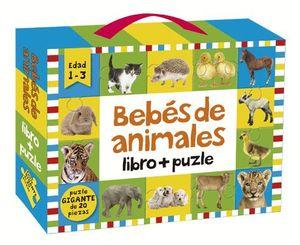 BEBES DE ANIMALES: LIBRO + PUZLE