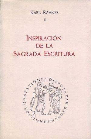 INSPIRACIÓN DE LA SAGRADA ESCRITURA