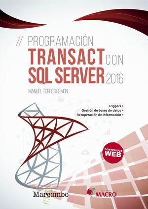 PROGRAMACIÓN TRANSACT CON SQL SERVER 2016