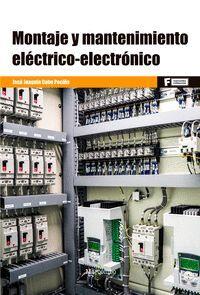 MONTAJE Y MANTENIMIENTO ELÉCTRICO ELECTRÓNICO