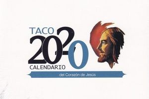 TACO CALENDARIO DEL CORAZÓN DE JESÚS 2020 (MESA CON SOPORTE)