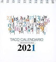 TACO CALENDARIO CORAZÓN DE JESÚS 2021 PEANA NUMEROS