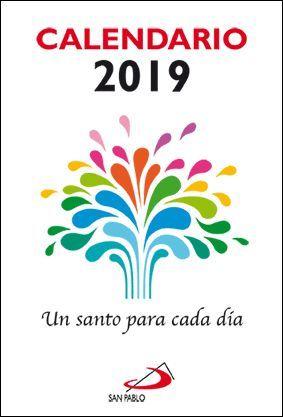 CALENDARIO PARED 2018 UN SANTO PARA CADA DIA (TACO GRANDE)
