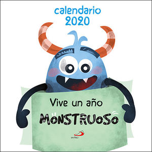 CALENDARIO 2020 VIVE UN AÑO MONSTRUOSO