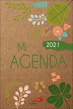 MI AGENDA 2021 (CUBIERTA KRAFT MODELO FLORAL)