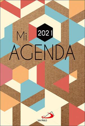 MI AGENDA 2021 (CUBIERTA KRAFT MODELO GEOMÉTRICO)