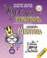 LEY ORGÁNICA DE IGUALDAD. VERSIÓN MARTINA