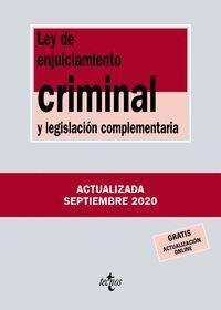 LEY DE ENJUICIAMIENTO CRIMINAL Y LEGISLACIÓN COMPLEMENTARIA - 267