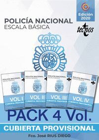 PACK. TEMARIO OPOSICION ESCALA BASICA POLICIA NACIONAL (4 VOL.)