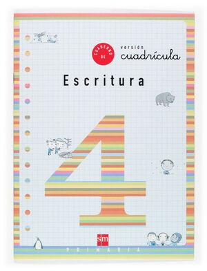 CUADERNO DE ESCRITURA 4 VERSION CUADRÍCULA. PRIMARIA