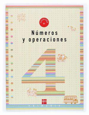 CUADERNO DE NUMEROS Y OPERACIONES 4 PRIMARIA