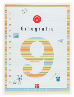 CUADERNO DE ORTOGRAFIA 9 INFANTIL