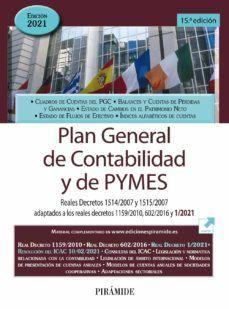 PLAN GENERAL DE CONTABILIDAD Y DE PYMES. 2021
