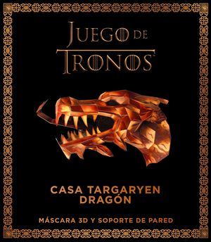 JUEGO DE TRONOS. CASA TARGARYEN: DRAGÓN. MÁSCARA 3D Y SOPORTE DE PARED