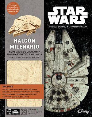KIT HALCÓN MILENARIO - STAR WARS MODELO DE LUJO Y LIBRO ILUSTRADO
