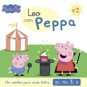 LEO CON PEPPA N.2 UN CUENTO PARA CADA LETRA P, M, L, S