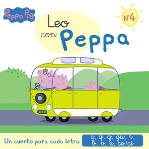 LEO CON PEPPA PIG N. 4. LETRAS C Q G R B V Z