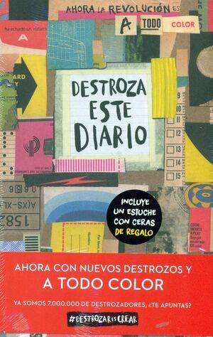 PACK DESTROZA ESTE DIARIO + ESTUCHE CERAS