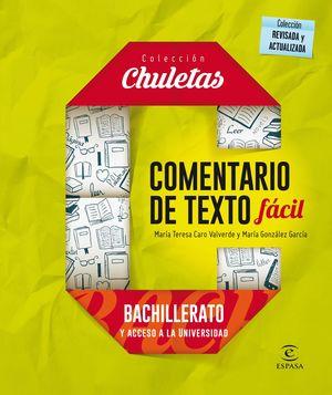 COMENTARIOS DE TEXTO FÁCIL BACHILLERATO Y ACCESO A LA UNIVERSIDAD