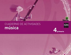 CUADERNO DE MÚSICA. 4 PRIMARIA. SAVIA