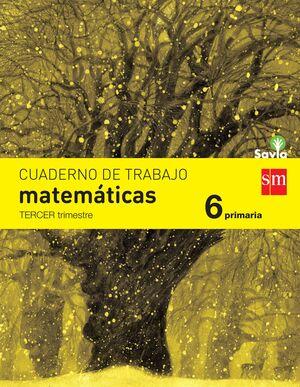 CUADERNO DE MATEMÁTICAS. 6 PRIMARIA, 3 TRIMESTRE. SAVIA
